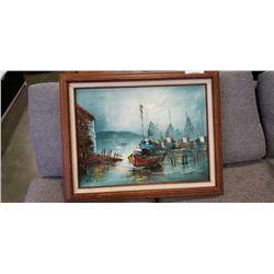 Signed framed oil on canvas
