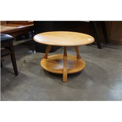 IMPERIAL RATTAN CO ROUND MAPLE ENDTABLE