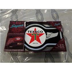 NEW TEXACO LED LIGHT UP SIGN
