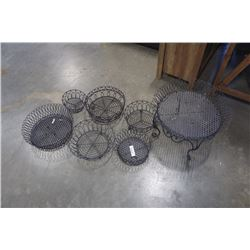 Lot of decorative metal Bowls and stand