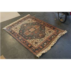 FRINGED AREA CARPET - APPROX 41 INCHES