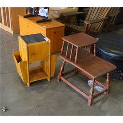 MAGAZINE STAND ENDTABLE AND STEP ENDTABLE