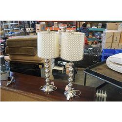 PAIR OF MODERN METAL TABLE LAMPS