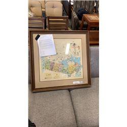 1975 LEP WILLIAM KURALEK MAP OF CANADA WITH PAPERWORK EST. VALE $1000-$1500