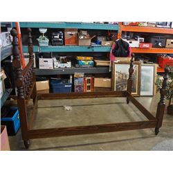 PINE DOUBLE SIZE BED FRAME