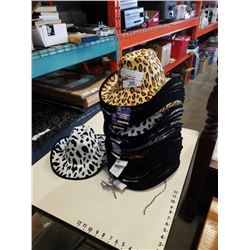Stack of new cheetah and zebra party hats