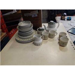 ROYAL DOULTON SAMARRA ENGLISH TRANSLUCENT CHINA TEA SET AND DISHES - TEAPOT
