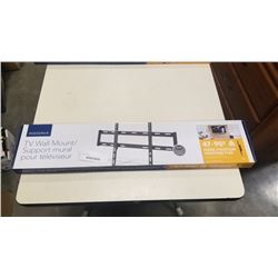 NEW OVERSTOCK 47-90 INCH FIXED POSITION TV WALL MOUNT 120LB CAPACITY