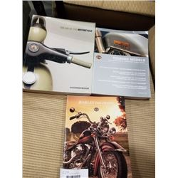 MOTORCYCLE BOOKS AND HARLEY DAVIDSON CATALOGS