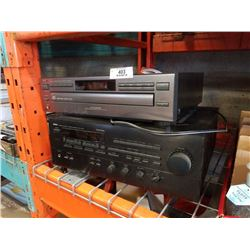 YAMAHA STEREO RECEIVER  AND JVC DISC CHANGER