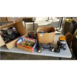 Large lot of RC cars and parts