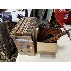 Box of records and box of clocks