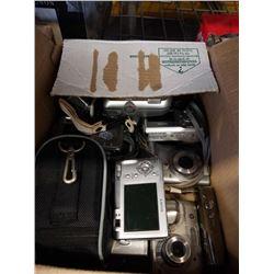 BOX OF DIGITAL CAMERAS