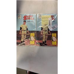 2 sealed mickey mantle #2 comics with original rare cards