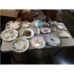 LOT OF CHINA  AND HAND PAINTED PLATES