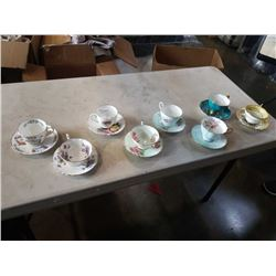 8 CHINA CUPS AND SAUCERS