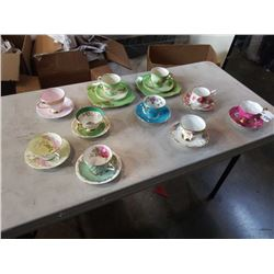 10 CHINA CUPS AND SAUCERS
