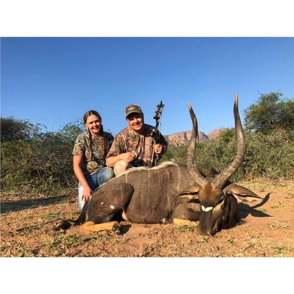 9 Day Nyala and Sable Bull Safari for 2 Hunters with Monkane Safaris includes 1 Nyala Bull and 1 Sab