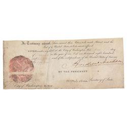 Andrew Jackson and Martin Van Buren Signatures