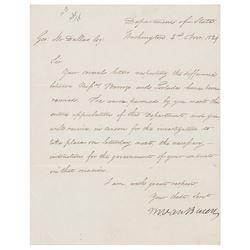 Martin Van Buren Letter Signed