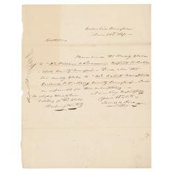 James K. Polk Autograph Letter Signed