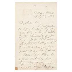 Franklin Pierce Autograph Letter Signed