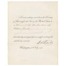 U. S. Grant Document Signed