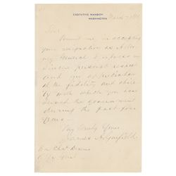 James A. Garfield Autograph Letter Signed as President