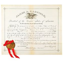 James A. Garfield Document Signed