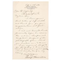 Benjamin Harrison Letter Signed