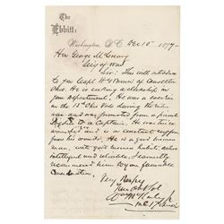 William McKinley Autograph Letter Signed and Rutherford B. Hayes Autograph Note Signed