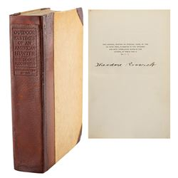 Theodore Roosevelt Signed Book