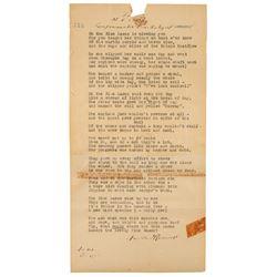 Franklin D. Roosevelt Typed Poem Signed