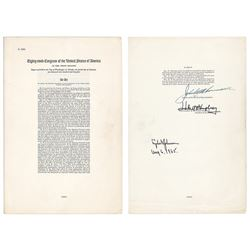 Lyndon B. Johnson Document Signed: Voting Rights Act of 1965