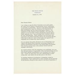 Gerald Ford Typed Letter Signed on Political Assassinations