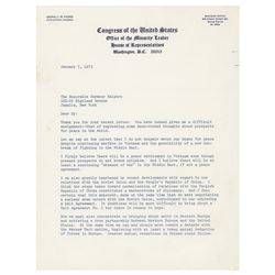 Gerald Ford Typed Letter Signed