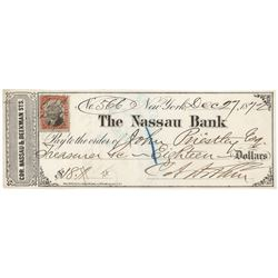 Chester A. Arthur Signed Check