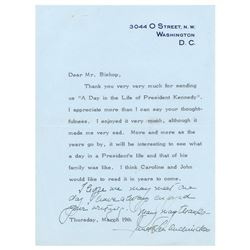 Janet Bouvier Auchincloss Typed Letter Signed