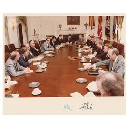 Jimmy Carter and Menachem Begin Signed Photograph