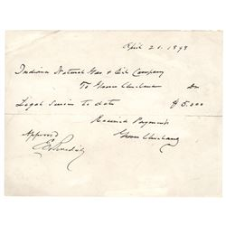 Grover Cleveland Autograph Document Signed Twice
