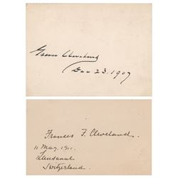 Grover and Frances Cleveland Signatures