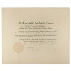Calvin Coolidge Document Signed