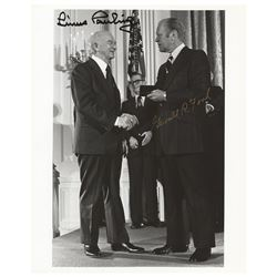 Gerald Ford and Linus Pauling Signed Photograph