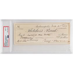 Benjamin Harrison Signed Check