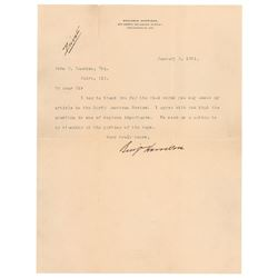 Benjamin Harrison Typed Letter Signed