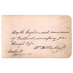 William McKinley Autograph Quote Signed