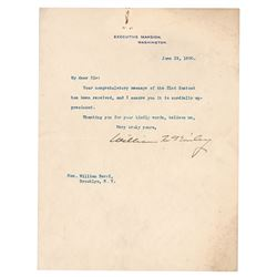 William McKinley Typed Letter Signed