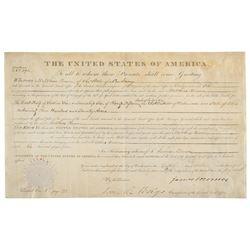 James Monroe Document Signed