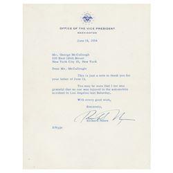 Richard Nixon Typed Letter Signed