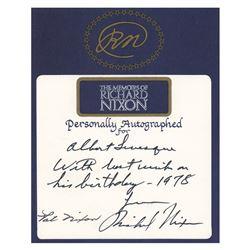 Richard and Pat Nixon Signatures